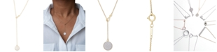 Macy's Wrapped™ Diamond Pavé Lariat Necklace (1/5 ct. t.w.) in 10k Gold, Created for Macy's