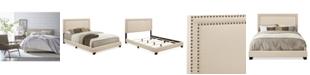Furniture Falone Upholstered Beds, Quick Ship