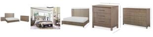 Furniture Rachael Ray Highline Bedroom Furniture, 3-Pc. Set (Upholstered Shelter Queen Bed, Dresser & Nightstand)