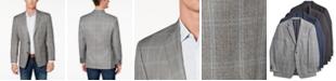 Michael Kors Men's Classic-Fit Grey Plaid Sport Coat