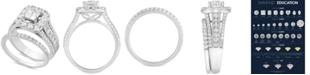 Macy's Diamond Princess Halo Bridal Set (2-1/2 ct. t.w.) in 14k White Gold