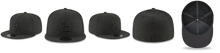 New Era St. Louis Cardinals Blackout 59FIFTY FITTED Cap