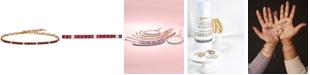 Le Vian Ruby (1-1/3 ct. t.w.) & Vanilla (1/5 ct. t.w.) Sapphire Bracelet in 14k Rose Gold