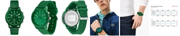 Lacoste Men's Chronograph 12.12 Green Silicone Strap Watch 44mm