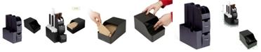 Mind Reader Coffee Condiment Organizer and Sleeve Dispenser Storage, Black