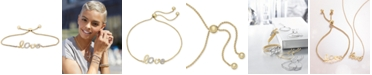 Wrapped in Love Wrapped™ Diamond Love Bolo Bracelet (1/10 ct. t.w.) in 14k Gold, Created for Macy's