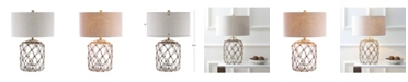 JONATHAN Y Mer Glass and Rope LED Table Lamp