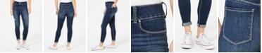 Indigo Rein Juniors' Ripped Cuffed Skinny Jeans