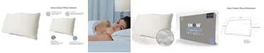 Protect-A-Bed Queen Therm-A-Sleep Snow Classic Down Alternative Soft Pillow ft. Nordic Chill Fiber and Tencel