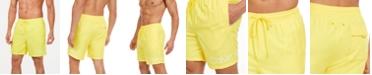 """Calvin Klein Men's Logo 7"""" Volley Swim Trunks, Created for Macy's"""