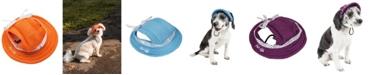 Pet Life Central Pet Life 'Sea Spot Sun' UV Protectant Adjustable Mesh Brimmed Dog Hat Cap
