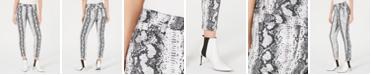 Tinseltown Juniors' Python-Print Jeans