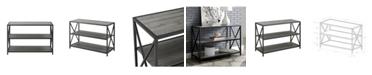 """Walker Edison 40"""" Industrial Wood Bookcase"""