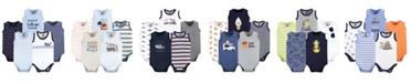 Hudson Baby Sleeveless Cotton Bodysuits, 5 Pack