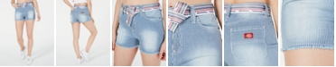 Dickies Hickory Frayed Belted Denim Shorts