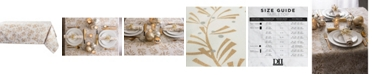 """Design Import Metallic Holly Leaves Tablecloth 60"""" x 104"""""""