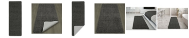 """Ottomanson Luxury Collection Solid Runner Rug With Non-Slip/Rubber-Backing Bath Rug, 20"""" x 59"""""""