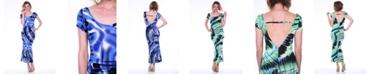 White Mark Women's Cut-Out Back Maxi Dress
