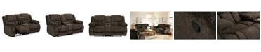 Furniture Seymore Manual Motion Reclining Loveseat