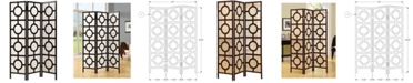 Monarch Specialties 3 Panel Folding Screen