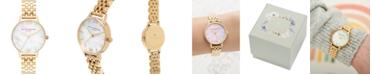 Olivia Burton Women's Gold-Tone Stainless Steel Bracelet Watch 30mm
