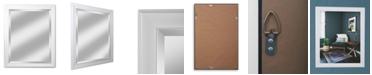 """Reveal Frame & Decor Alpine Lakeside White 28"""" x 34"""" Beveled Wall Mirror"""