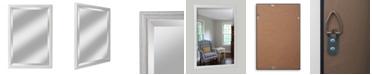 "Reveal Frame & Decor Alpine Savannah Brushed White 27"" x 39"" Beveled Wall Mirror"