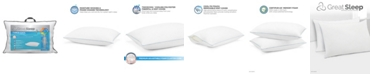 Great Sleep Twice Cool Premium Adjustable Foam Cluster Pillows