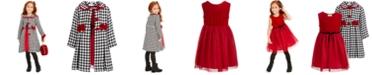 Blueberi Boulevard Toddler Girls 2-Pc. Velvet Dress & Houndstooth Jacket Set