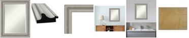 "Amanti Art Parlor Silver-tone Framed Bathroom Vanity Wall Mirror, 23.5"" x 29.50"""