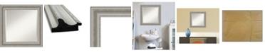 "Amanti Art Parlor Silver-tone Framed Bathroom Vanity Wall Mirror, 25.5"" x 25.50"""