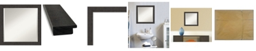 "Amanti Art Rustic Plank Framed Bathroom Vanity Wall Mirror, 23.25"" x 23.25"""