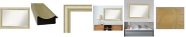 "Amanti Art Textured Light Gold-tone Framed Bathroom Vanity Wall Mirror, 41"" x 29"""