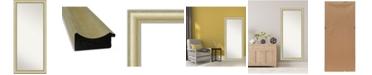 """Amanti Art Textured Light Gold-tone Framed Floor/Leaner Full Length Mirror, 29"""" x 65"""""""