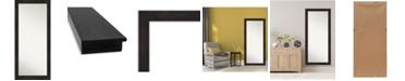 """Amanti Art Furniture Framed Floor/Leaner Full Length Mirror, 29.38"""" x 65.38"""""""