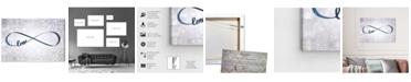 "Oliver Gal Sparkle Love Snow Canvas Art, 36"" x 24"""