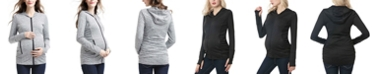 kimi + kai Haven Ruched Performance Maternity Hoodie