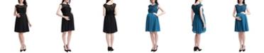 kimi + kai Genevieve Maternity Lace Skater Dress