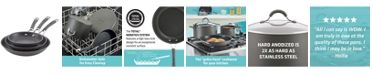 Circulon Radiance Hard-Anodized Nonstick Skillets, Set of 3, Gray
