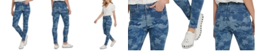DKNY Jeans Camo-Print High-Rise Skinny Jeans