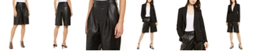 INC International Concepts INC Faux-Leather Gaucho Shorts, Created for Macy's