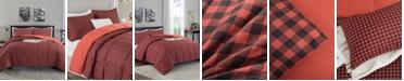 UNIKOME Printed Reversible Down Alternative Year Round 3-Piece Comforter Set, Full/Queen