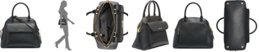 Calvin Klein Chained Dome Leather Satchel