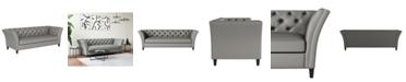 Handy Living Latrevo Button Tufted Sofa