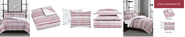 Pem America Holiday Fair Isle 2-Pc. Reversible Twin Comforter Set, Created for Macy's
