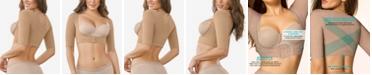 Leonisa Women's  Light Control Arm-Compression Vest With Posture Corrector 015790