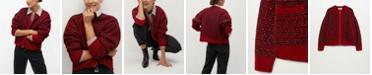 MANGO Women's Textured Knit Cardigan