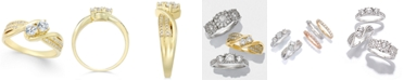 Macy's Two Souls, One Love® Diamond Anniversary Ring (1/2 ct. t.w.) in 14k Gold or White Gold