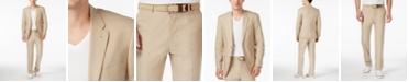 Tommy Hilfiger Tan Cotton Poplin Classic-Fit Suit Separates