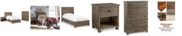 Furniture Canyon Platform Bedroom Furniture, 3-Pc. Bedroom Set (Twin Bed, Chest and Nightstand)